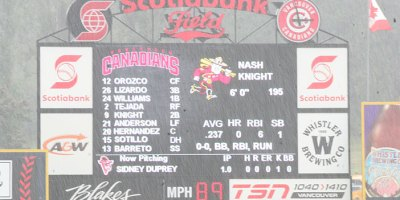 Nat Bailey Stadium Videoboard