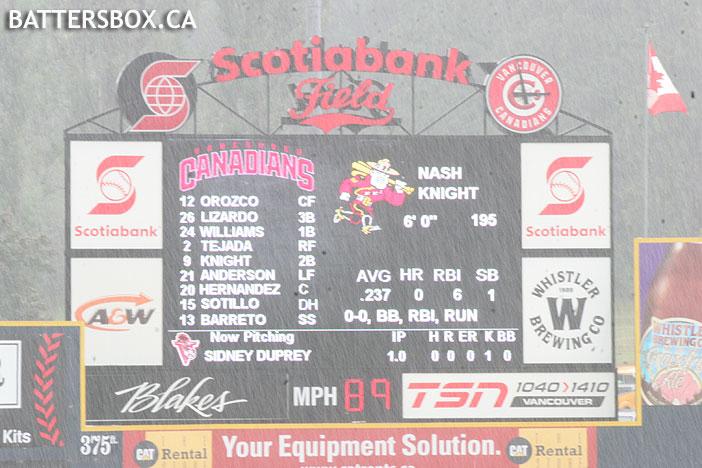 Nat Bailey Stadium Videoboard