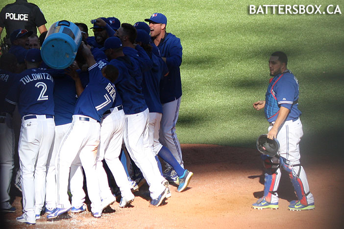 Celebrate at home plate.