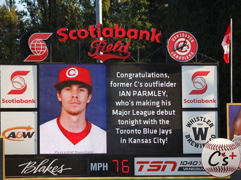 Vancouver Canadians Ian Parmley