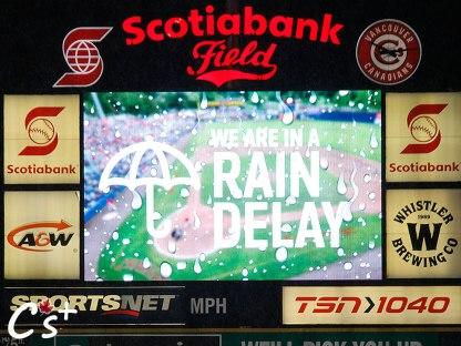 Vancouver Canadians Rain Delay