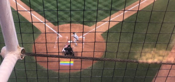 Vancouver Canadians Pride Night Pride Flag Home Plate