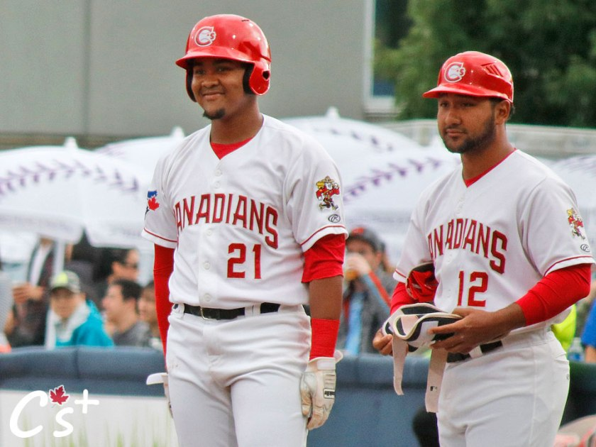 Vancouver Canadians Bryan Lizardo Jose Mayorga