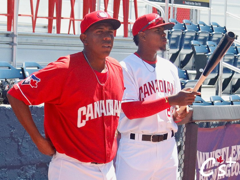 Vancouver Canadians Randy Pondler, Mc Gregory Contreras