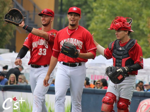 Vancouver Canadians Jake Brodt Denis Diaz Reilly Johnson