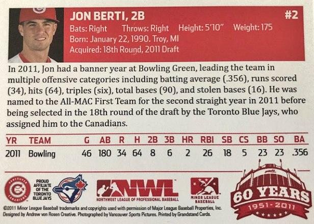 Vancouver Canadians Jon Berti