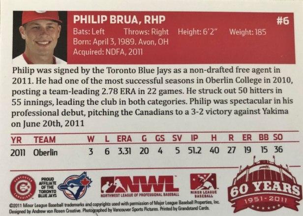 Vancouver Canadians Philip Brua
