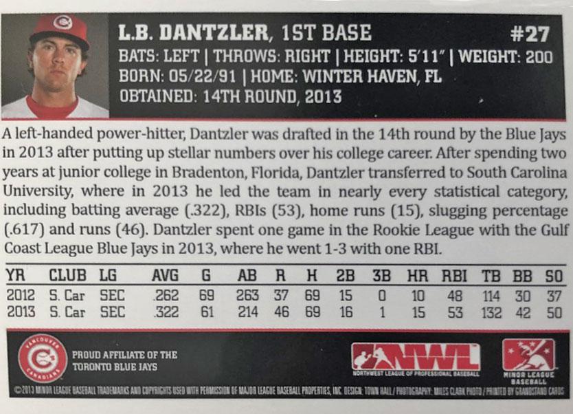 Vancouver Canadians L.B. Dantzler